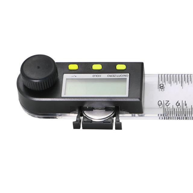 200 mm 8'' Digital protractor inclinometer goniometer Plastic Angle Ruler  Finder Meter Level Measuring Instrument