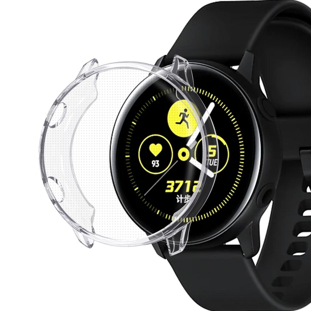 Cover Case For Samsung Galaxy Active Watch Plating+TPU Protection Silicone Case Full Screen Protector 91020
