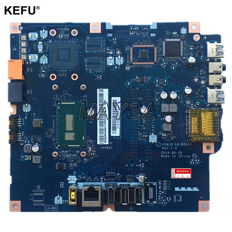 LA-B691P UMA 3805U motherboard fit for Lenovo C20-30 C2030 ALL IN ONE PC mainboard original for hp touchsmart 23 all in one pc motherboard pn 732130 002 ipshb la 100