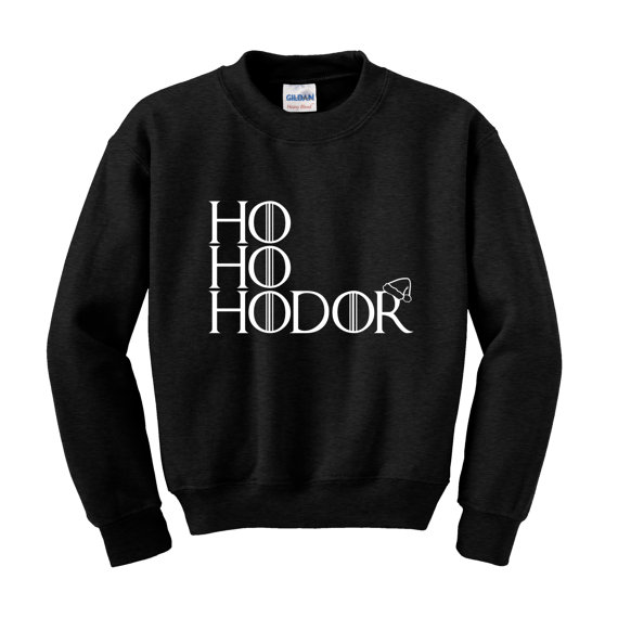 HO HODOR Slogan Sweatshirt Game of Thrones Funny Christmas Jumper Winter Clothing-E503