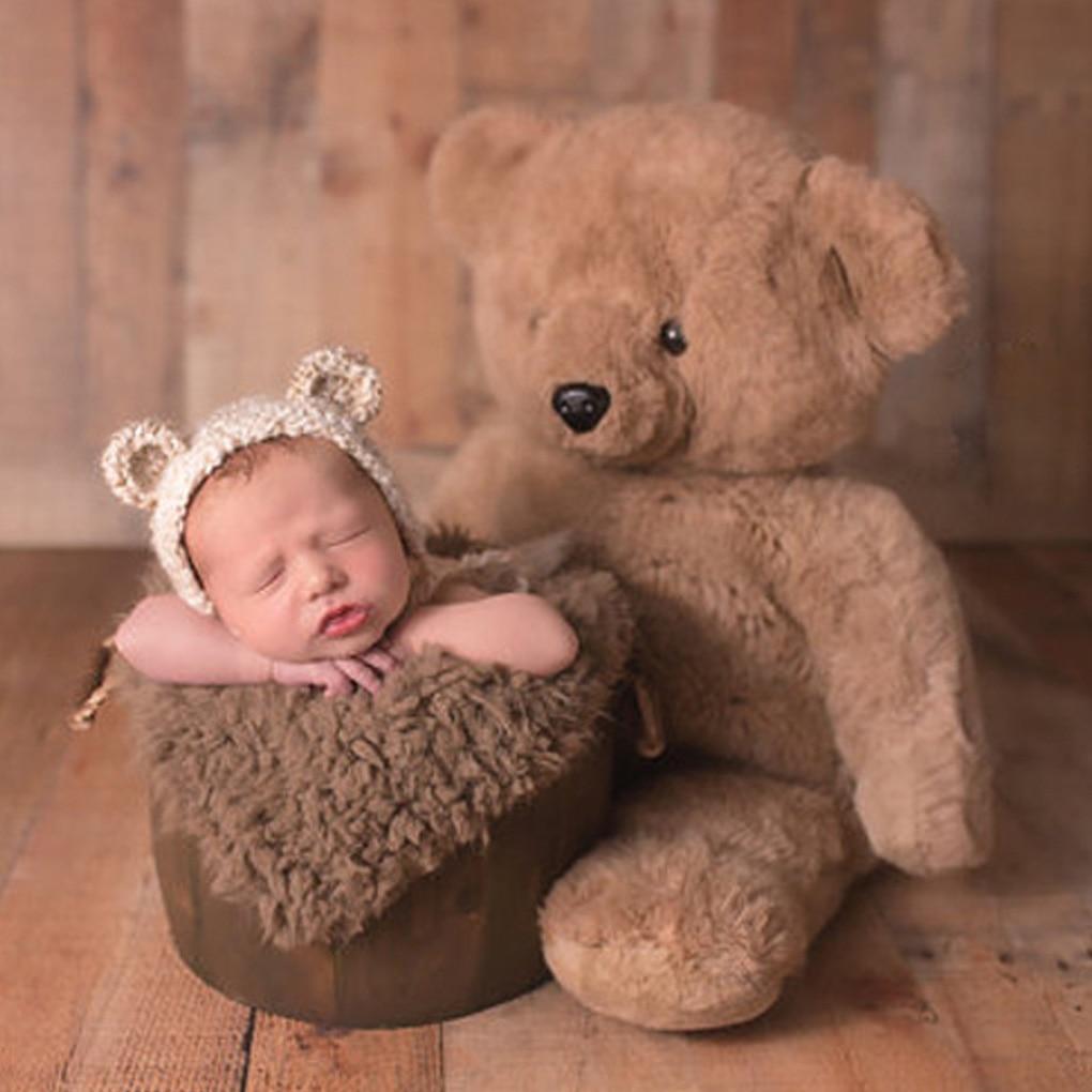 Newborn Faux Fur Wrap Baby Photography Props Blanket Newborn basket filler stuffer Photo Shoot baby fotografia Accessories 50*50 10