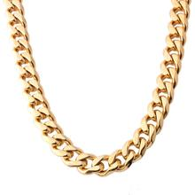 Granny Chic Necklaces For Men Miami Cuban Link Gold Chain Hip Hop Jewelry Long Chains Thick Stainless Steel Fashion Gift