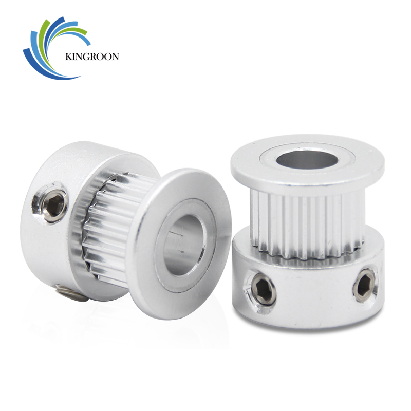 KINGROON 20 Tooth Bore 6.35mm Aluminium Timing Pulley For Width 6mm Belt 2GT Synchronous Pulley 20 Teeth 3D Printer Parts Pulley