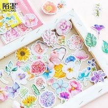 45Pcs/pack Sun Flower Series Sticker Decorative Adhesive Stickers DIY Diary Scrapbooking Stationery School Supplies