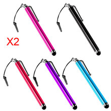 Wholesale Lots 10 Stylus Touch Screen Metal Pen For Iphone 3G 3Gs 4S 4 4G Ipad 2 Htc Touch Stylus For Mobile Phone(China)