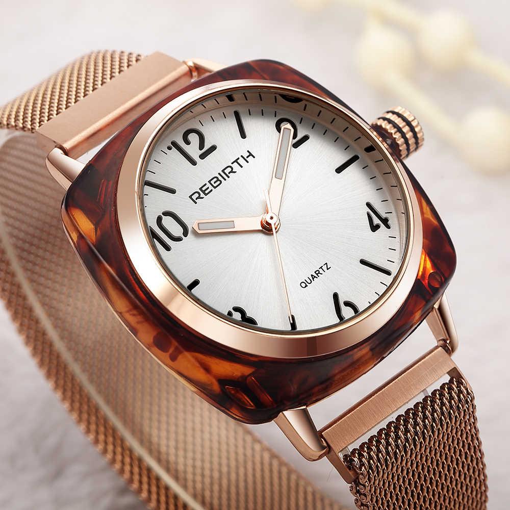 Odrodzenie zegarek dla kobiet 2020 luksusowe zegarki damskie moda damska zegarek wodoodporna bransoletka zegar prezent relogio feminino saat