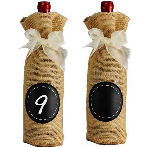 삼베 와인 병 선물 포장 3 샴페인 와인 와인 블라인드 텍스트 주머니 팩