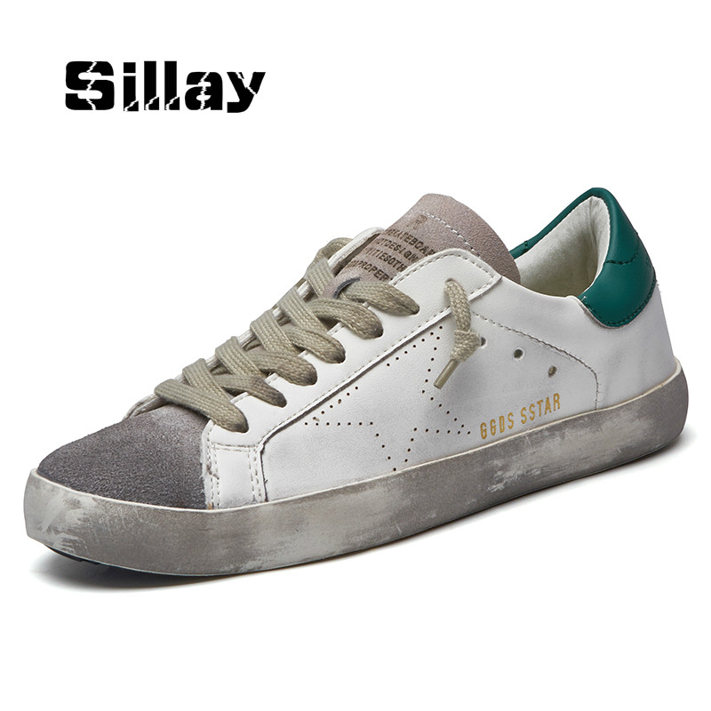 Brand Italy Golden Genuine Leather Casual Women Trainers Goose All Sport Star Breathe Slipony Shoes Footwear Zapatillas Krasovki 2016 new italy deluxe brand golden goose uomo donna casual ggdb fashion handmade original box shoes high quality eur 34 46