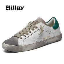Brand Italy Golden Genuine Leather Casual Women Trainers Goose All Sport Star Breathe Slipony Shoes Footwear Zapatillas Krasovki(China)