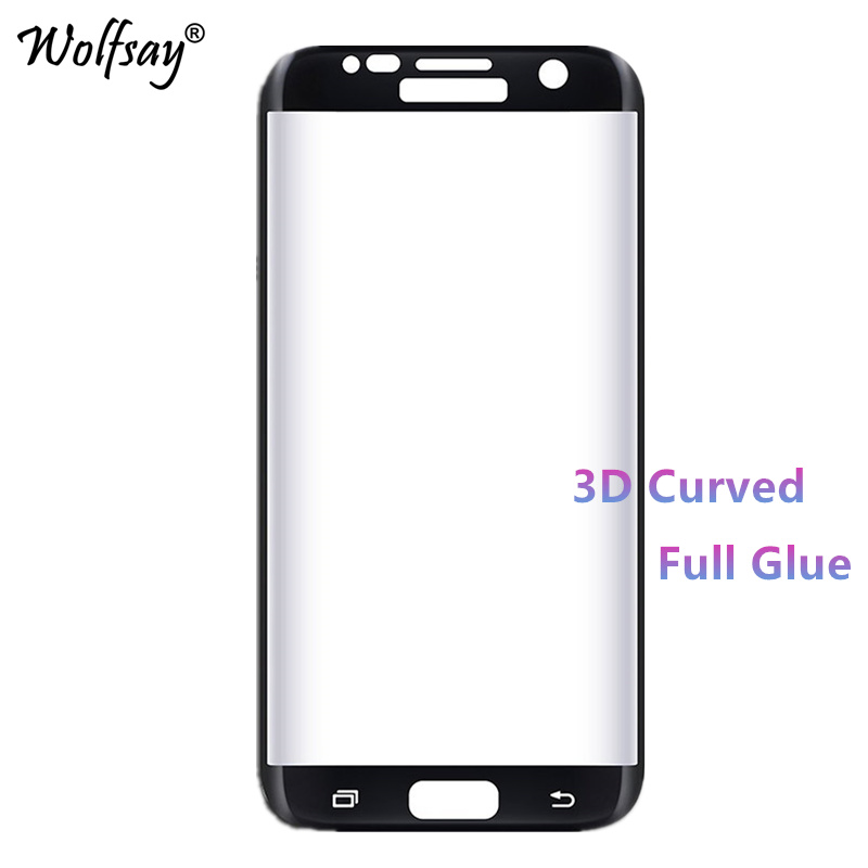 3D Curved Tempered Glass for Samsung Galaxy S7 Edge Full Glue Screen Protector For Samsung Galaxy S7 Edge G9350 Full Cover Film image