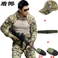 Military Uniform Tactical Combat Shirt Pants Camouflage Militar Gear Multicam Uniforms With Knee Pads Hunting CS Sets For Men