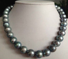 ddh001513 11-13MM TAHITIAN PEACOCK GREEN PEARL PEARL NECKLACE 28% Discount (A0322)