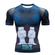 Avengers 3 THOR 3D Printed T shirts Men Compression Shirt 2018 New Cosplay Costume Short Sleeve Tops For Men Black Friday Cloth