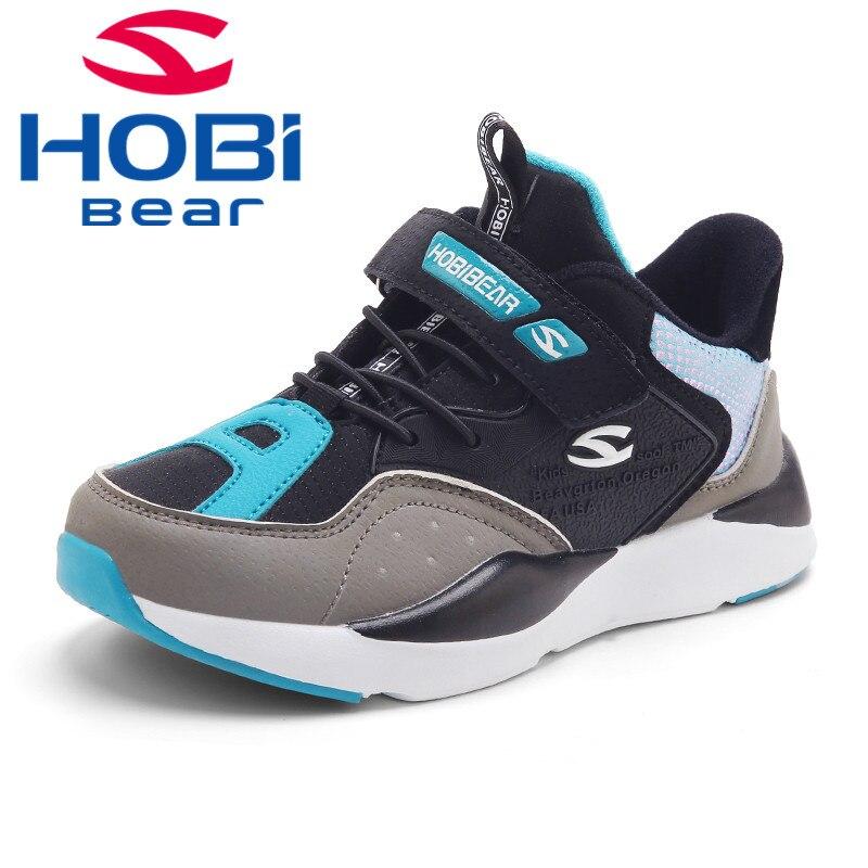 Baskets garçons filles enfants chaussures pour enfants course chaussures de sport baskets de Tennis chaussures antidérapantes pour adolescent Hobibear H7830