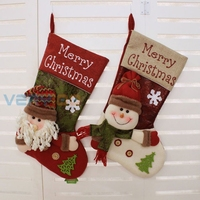 3D Christmas Decoration Gift Stocking Sock Xmas Hanging Festival Kids Candy Bag