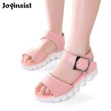 2018 new girls sandals summer soft bottom beach shoes Korean