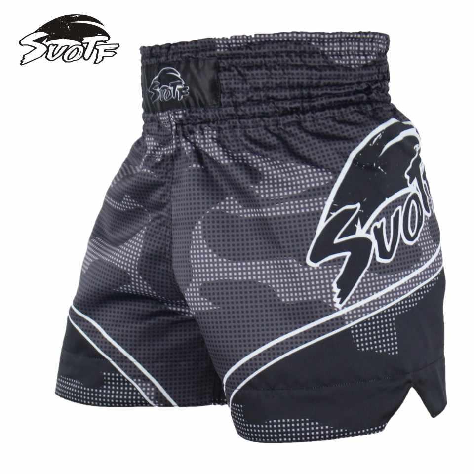 Suotf MMA Tiger Muay Thai Tinju Pertandingan Tinju Sanda Latihan Bernapas Celana Pendek Muay Thai Pakaian Mma Tinju Tiger Muay Thai