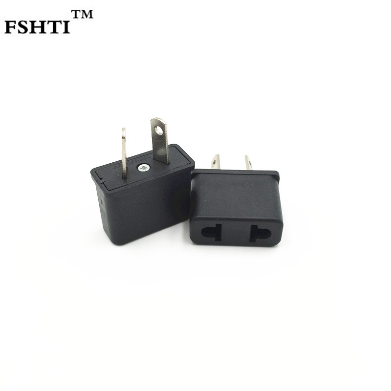 2PCS Travel Charger Wall AC Power Plug Adapter Converter US USA to EU Europe JT