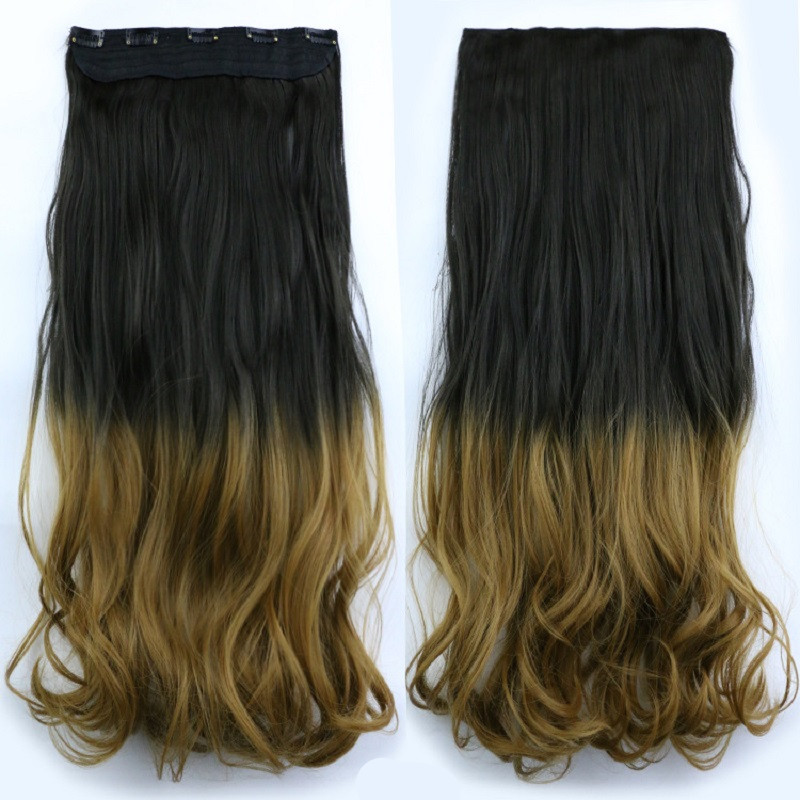 styling synthetic hair extensions 20inch 120g jumbo wavy synthetic hair clip in hair 3628