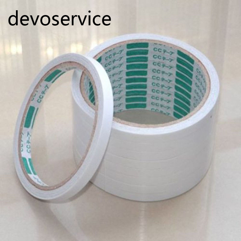 Free Shipping 2PCS/Lot White Strong Sticky Glue Permanent Double-sided Adhesive Tape For Office Supplies