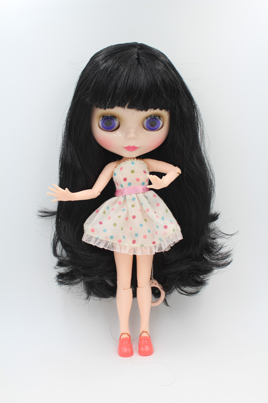 Free Shipping BJD joint RBL-241J DIY Nude Blyth doll birthday gift for girl 4 colour big eyes dolls with beautiful Hair cute toy free shipping top discount joint diy nude blyth doll item no 241j doll limited gift special price cheap offer toy usa for girl