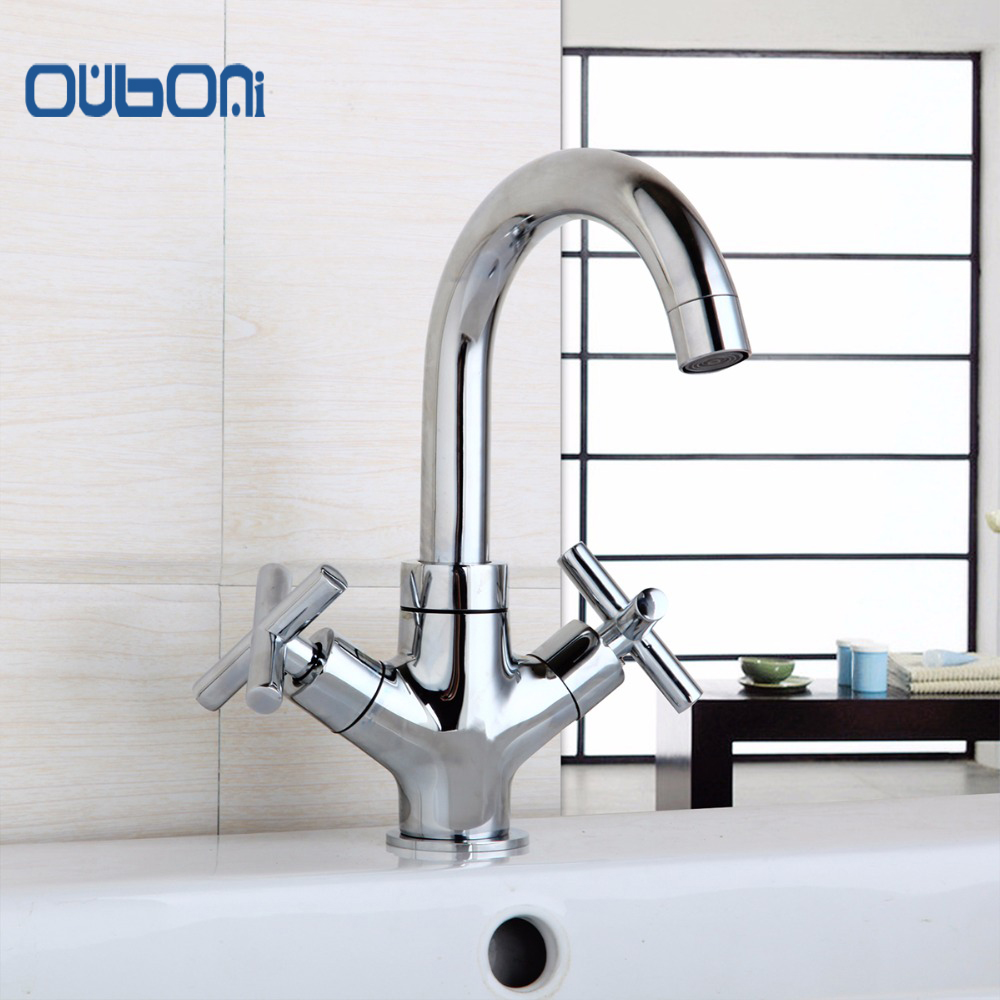 Hot and cold water faucet for outdoor sink - Ouboni Concise Style Design Bathroom Faucet Mixer Waterfall Hot And Cold Water Taps For Basin Of