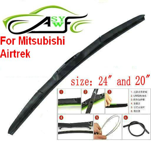What Size Windshield Wipers >> Us 11 96 18 Off Free Shipping Car Wiper Blade For Mitsubishi Airtrek Size 24