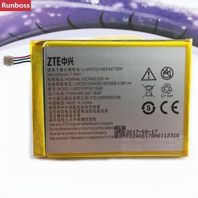 Original 2000 mAh LI3820T43P3h715345 Pin Cho ZTE Grand S Flex/Đối Với ZTE MF910 MF910S MF910L MF920 MF920S MF920W + pin