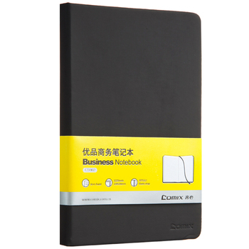 Comix A5 122 Pages PU Leather Hard Copybook Black Business Notebook Office School Supplies Stationery (C5902) general supply