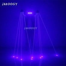 Doprava zdarma vysoce kvalitní čistě modrá laserová rukavice Party Music Festival ball club noční klub fluorescenční brýle stojan rekvizity