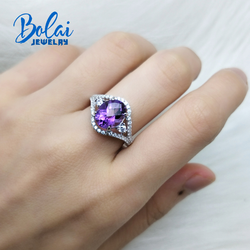 Bolaijewelry,natural amethyst and citrine checkboard oval cut gemstone ring 925 sterling silver jewelry for women wear best giftBolaijewelry,natural amethyst and citrine checkboard oval cut gemstone ring 925 sterling silver jewelry for women wear best gift