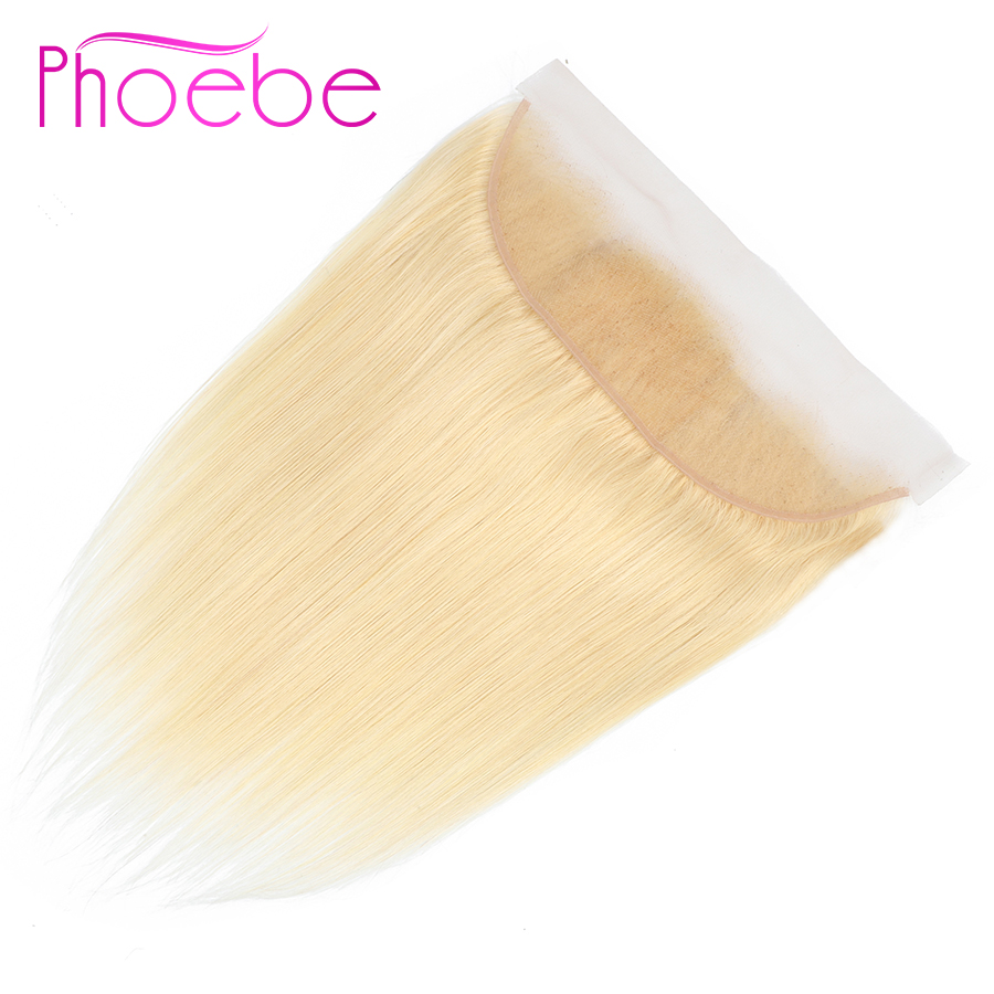 Phoebe Indian Straight Hair 13*4 613 Lace Frontal Closure Ear To Ear Frontal 100% Human Hair Non-remy Hair #613 Lace Closure