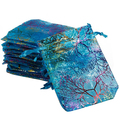 2015 New 25Pcs/pack 12x9cm Coralline Organza Jewelry Pouch Wedding Party Favor Gift Bag 1VET 5GCO