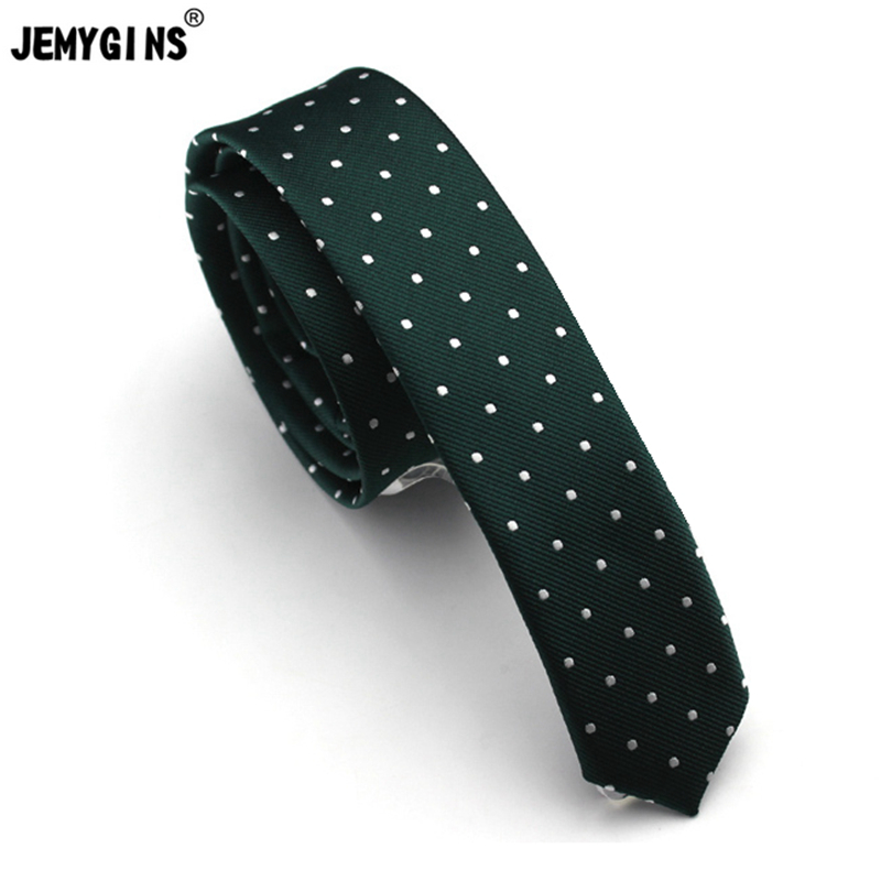 JEMYGINS 4cm Slim Skinny Male Solid Dot Young People New Neck Tie High Quality Fashion Purity Freestyle Men&Women Tie For Party