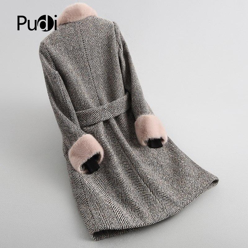 De Laine Mouton Chaude Manteau Hiver Doublure Veste Pardessus Avec Pudi Femmes A18123 Lady Fox Col Fourrure tFqwSSza