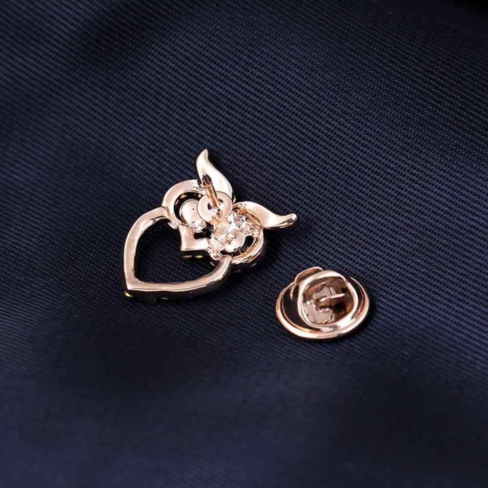 Unisex Moda Stile Retrò Carino Mini Gufo Spilla Camicia Suit Collare Pin Cappello Accessori Regalo Del Partito YBRH-0256