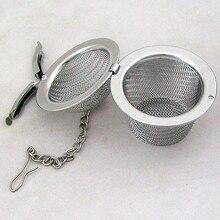 Reusable stainless steel tea infuser mug strainer Mesh loose tea leaf coffee