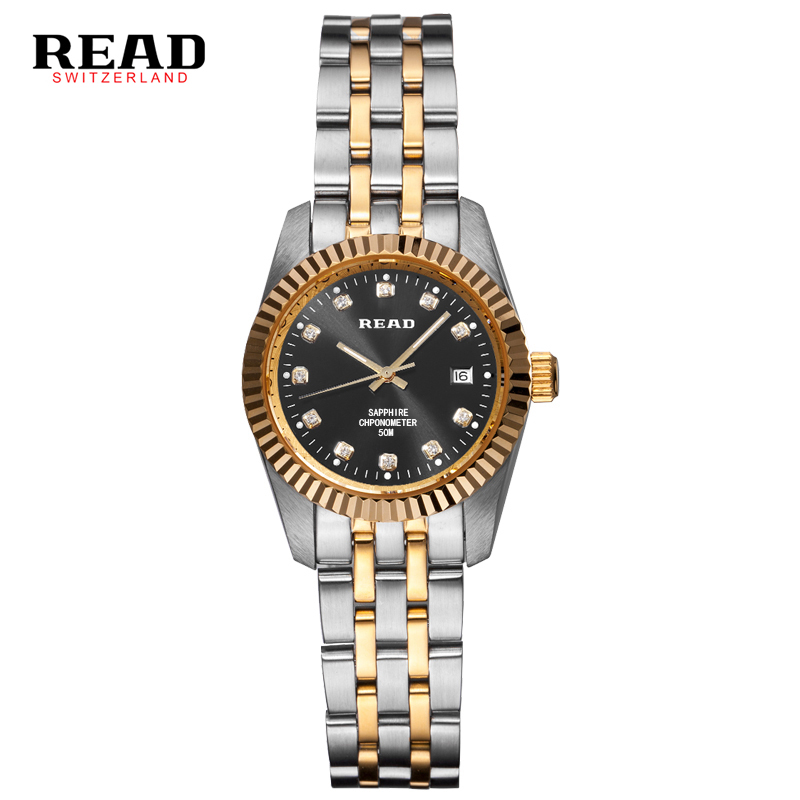 READ luxury brand automatic mechanical watches women full Steel Top waterproof watch relogio feminino Rose gold