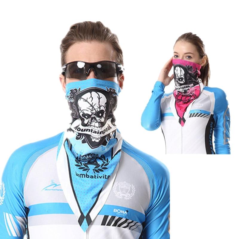 CKAHSBI 2017 Bike Headwear Cap Coolmax Neck masks Skull Cycling Mask Multi Triangular Towel Balaclava Scarf Bicycle Face Shield