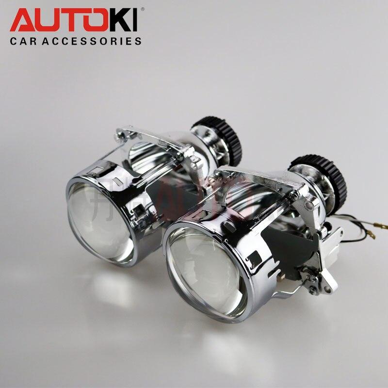 Lentille de projecteur bi-xénon AL phare D2S pour BMW E46 E39 E60 X3/Audi A3/VW Jetta Mk5/Benz C180 C200 C220 CL500 CL600/Volvo S40