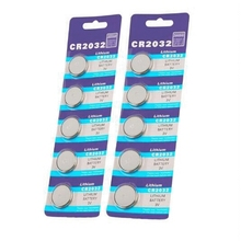 GTF 10PCS CR2032 button battery 3V lithium battery car remote control button electronic Battery cell coin button Battery