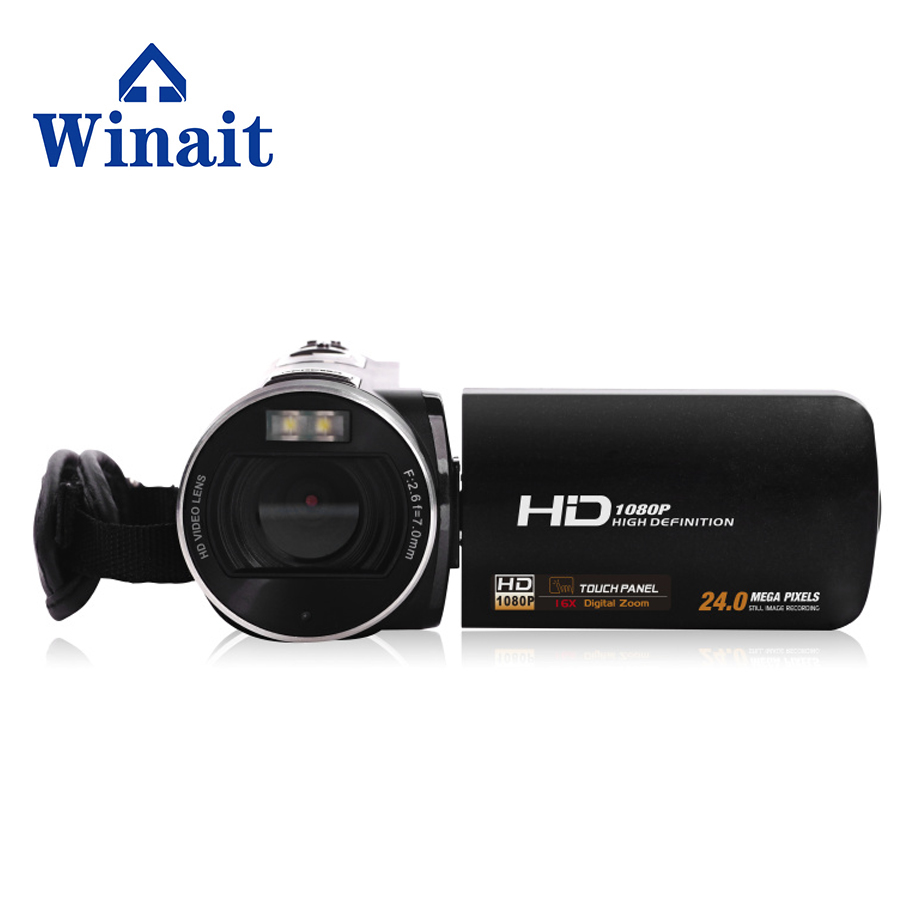 Winait Electronic Image Stabilization HDV-Z8 digital video camera with recording function,touch screen