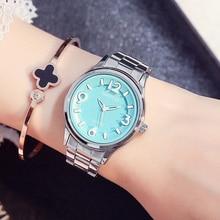 GIMTO Marca de Lujo Mujer Relojes de Acero Lleno Vestido de Niña Mujer Reloj Pulsera Señoras Reloj Reloj Ocasional Relogio Montre reloj