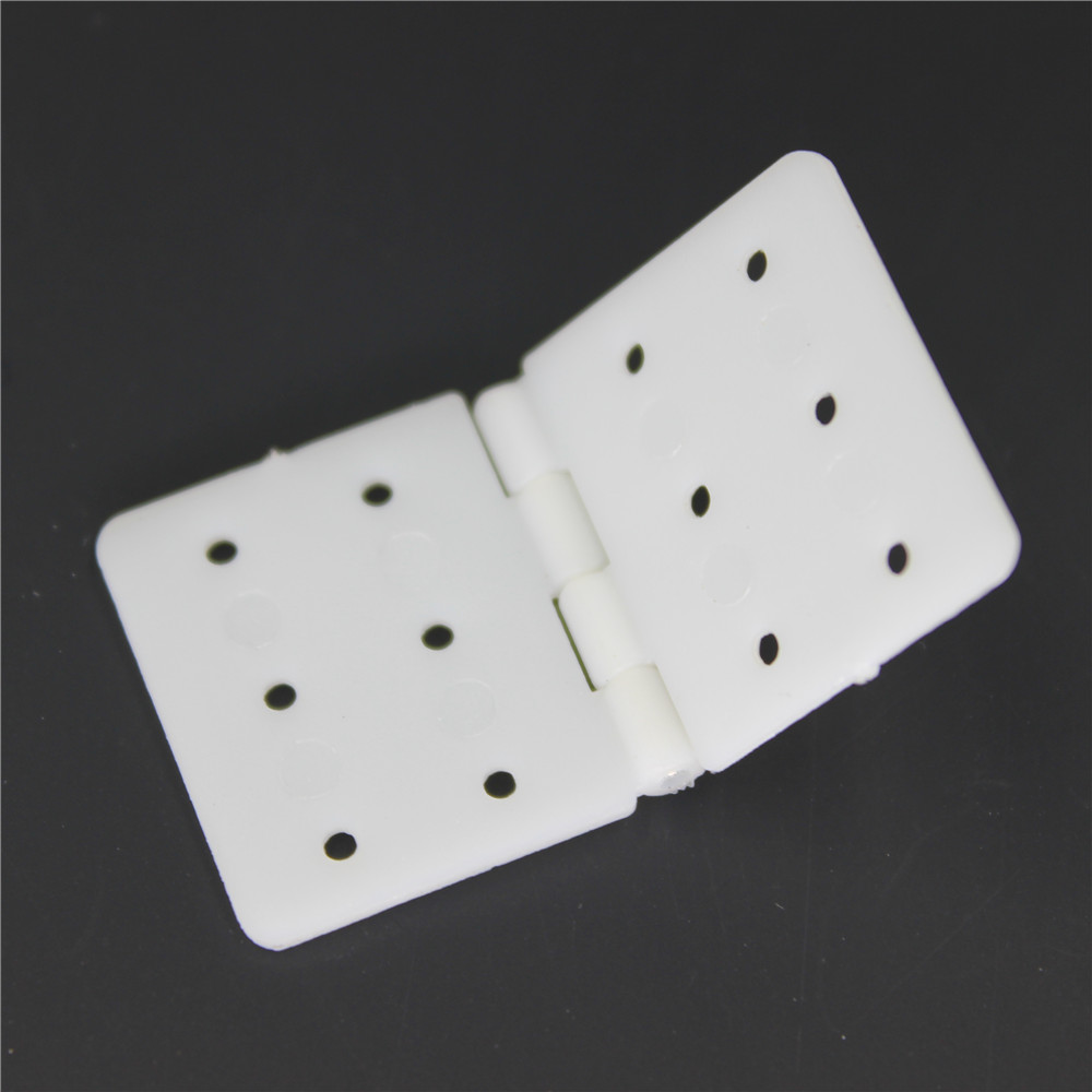 Wholesale Plastic Pinned Nylon Hinges 20x36 mm RC Model Airplanes Parts Replacements Pack of 100