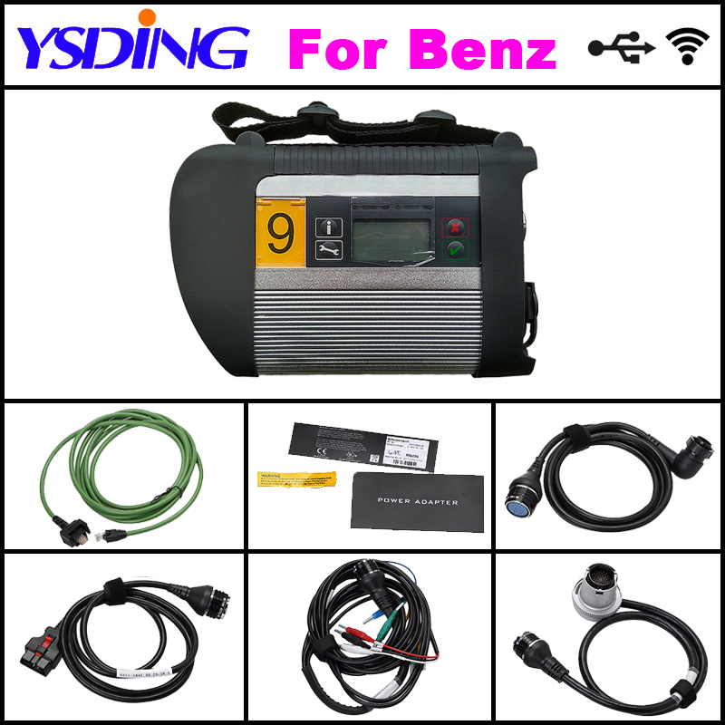 TOP Quality WIFI MB star C4 2018.03 C4 Full Set SD connect c4 diagnostic tool For car&truck better than mb star C5 Free eml327 38 pin main cable for mb star c4 c5 diagnosis sd connect for mercedes compact 4 5 super quality