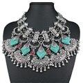 Gitano Bohemio Imitar turquesa collar llamativo Collar pendats maxi steampunk gargantilla collar para las mujeres joyería fina