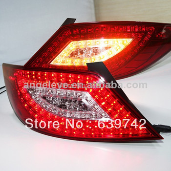 For Accent / Verna / Solaris / Attitude / Grand Avega LED Tail Light  2010-2013 year Super Lux