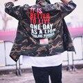 Камуфляж куртки 2017 Весна Хип-хоп Куртку Пилот Верхняя Одежда Мужчины Army Green Кандзи Японской Мерч мужчины Пальто куртки