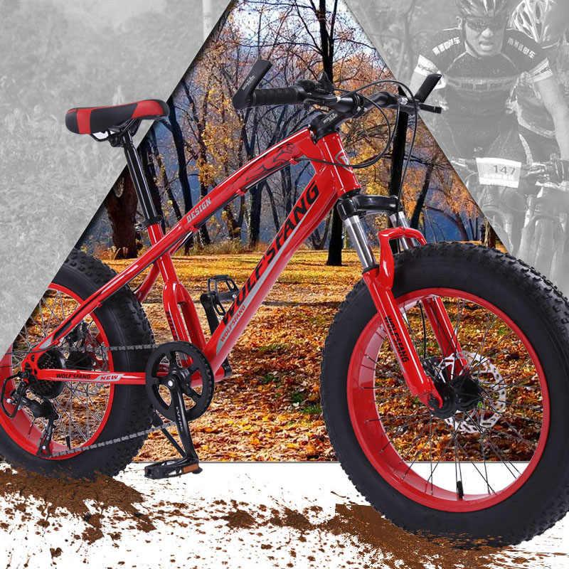 20x4.0 горный велосипед жира велосипед Велосипедный Спорт дорожный мотоцикл 7/21 скорость спереди и сзади механические дисковые тормоза жесткий Рамки унисекс снег велосипед фэтбайк бесплатная доставка