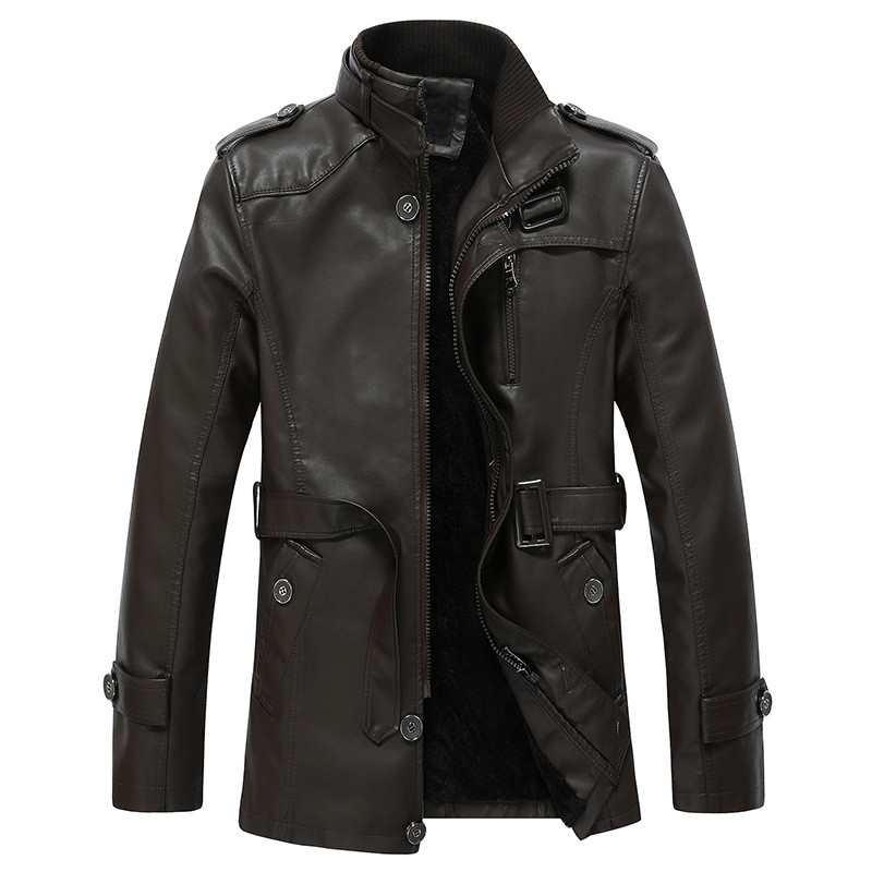 BOLUBAO Winter Leather Suede Jacket Men Fashion Brand Black Thick Liner  Fleece Lined Male Leather PU Jackets Outerwear-in Faux Leather Coats from Men's Clothing    2